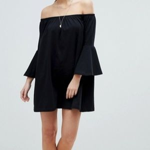 ASOS | Off Shoulder Mini Dress Trumpet Sleeve